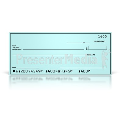 Blank Check - Presentation Clipart - Great Clipart for Presentations