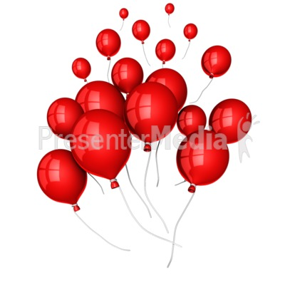 Balloons Floating Away - Presentation Clipart - Great Clipart for