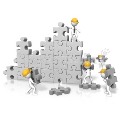 Puzzle Wall Construction Team - Presentation Clipart - Great Clipart