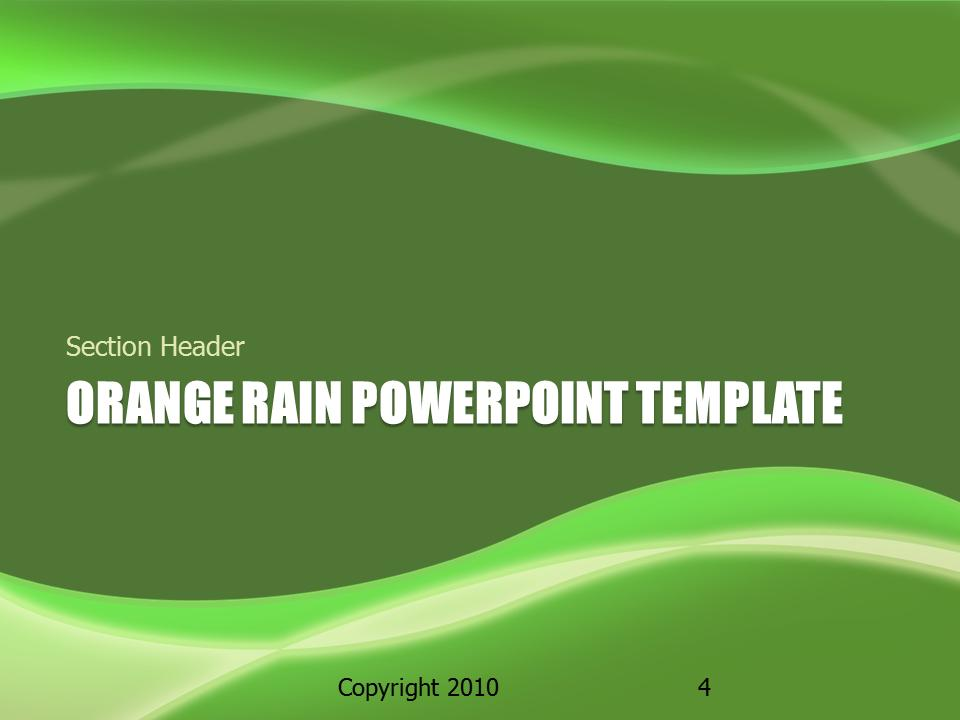 Green Rain A Powerpoint Template From Presentermedia Gallery For