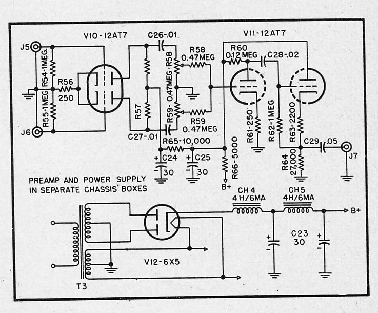 battery powered tube preamplifier schematic