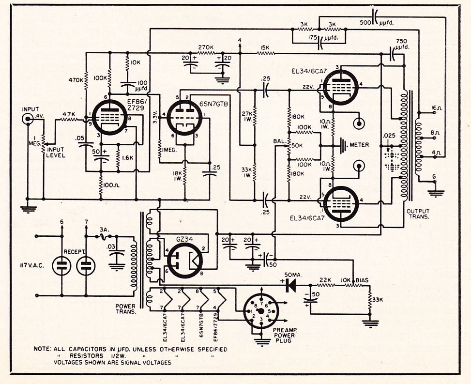 807 Tube Triode Connected - schematic Valve Amplifiers - p amp amp l statement