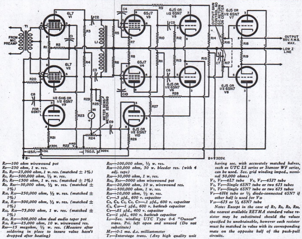 tube audio compressor schematic