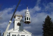Acworth meetinghouse crane