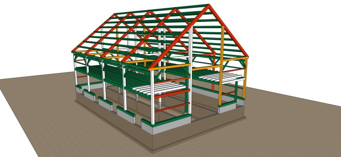 Barn Frame Iso with transparent grade