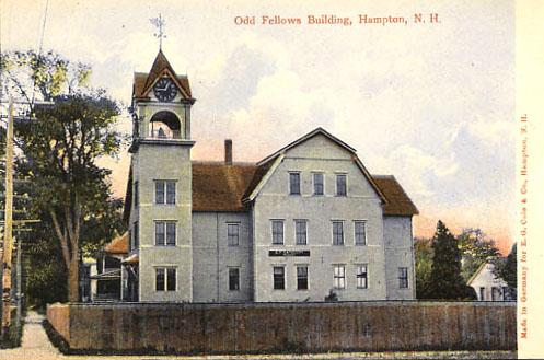 Odd Fellowing Building, photo from Lane Memorial Library