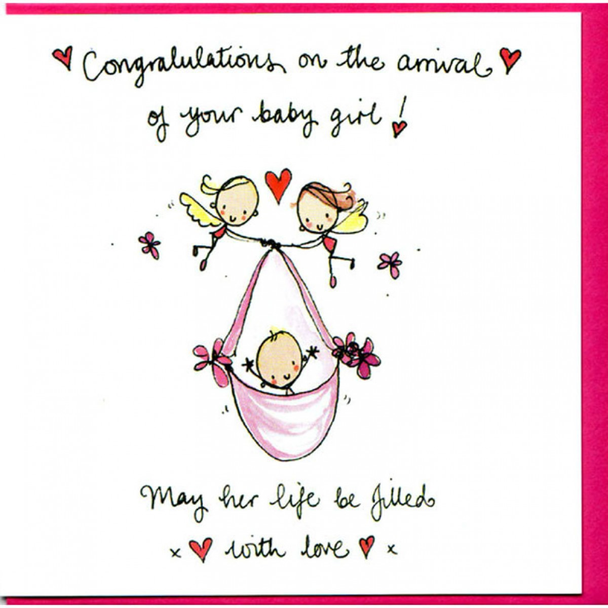Fullsize Of Congratulations On Your Baby Girl