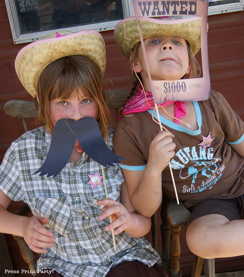 Western Party Photo Booth Props