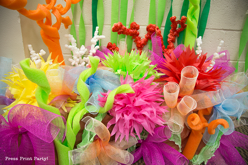 How To Make Coral Reef Party Decorations