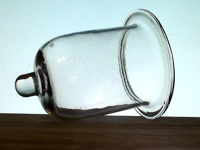 Hanging Candle Holder Flat Rim With Peg 425 X 525 Clear