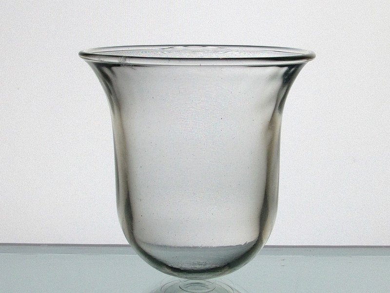 Hanging Candle Holder Thick Glass With Flared Rim 4 X 4