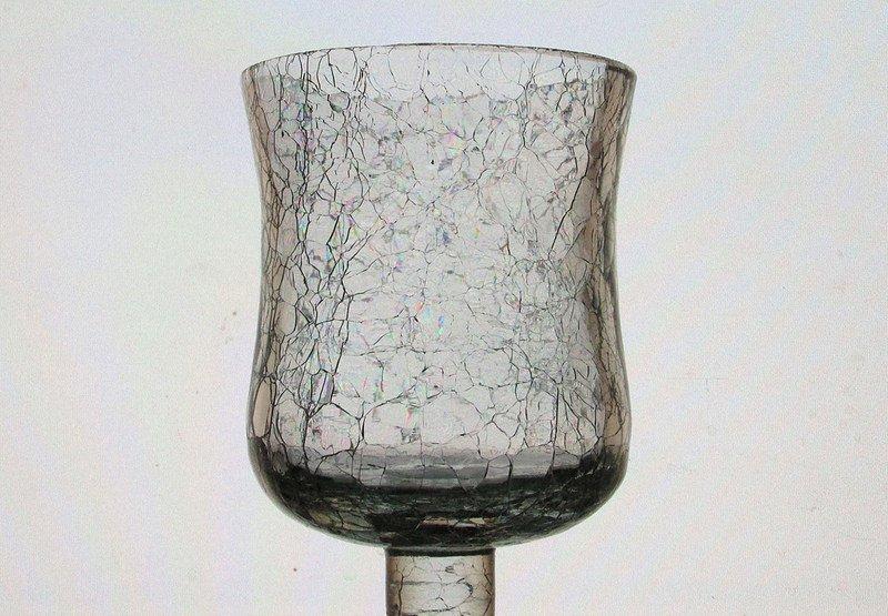 Home Interiors Peg Votive Candle Holder Crackle Glass 425