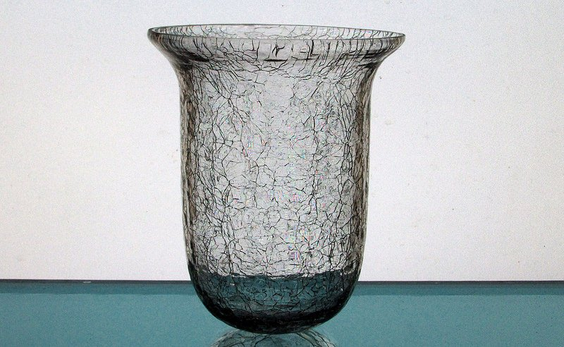 Hanging Candle Holder 425 X 525 Heavy Crackle Glass