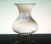 Hurricane Lamp Shade Swirled Iridescent Flare 3 inch ...