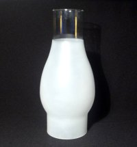 Hurricane Lamp Shade 3/4 Frosted 2 5/8 inch Fitter x 7 7/8 OOS