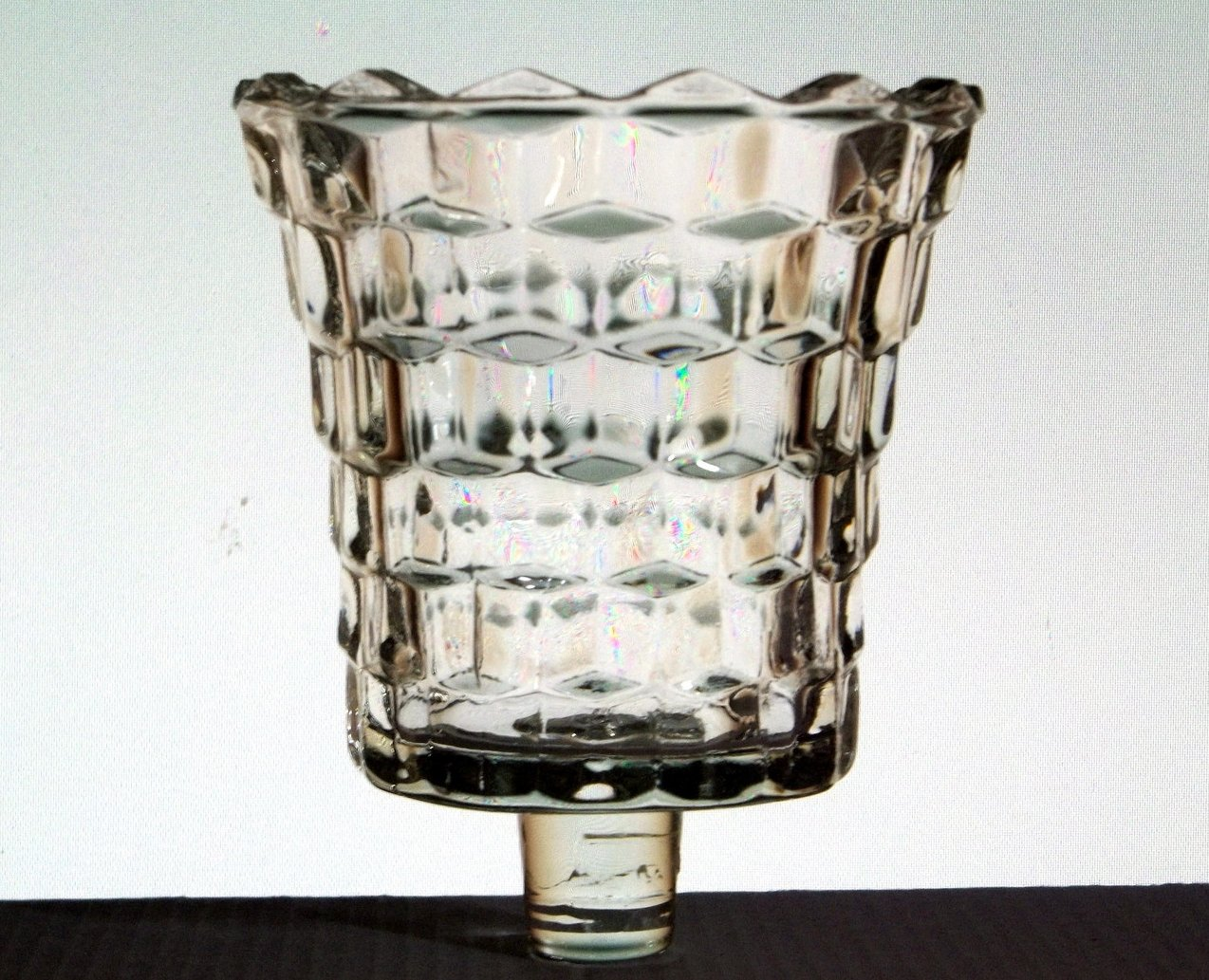 Home Interiors Peg Votive Candle Holder Lady Love Clear