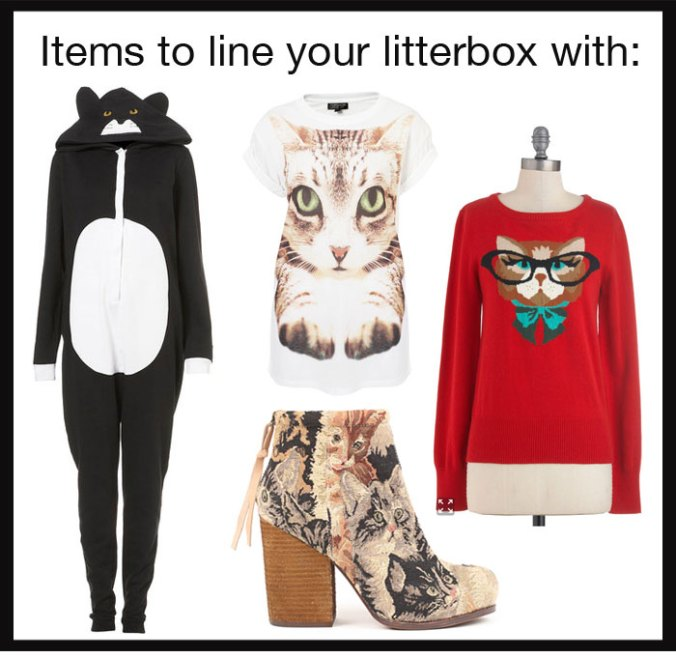 Cat fashion that should be in a litterbox