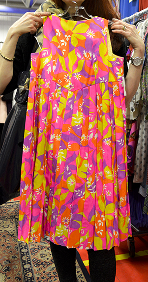 1960s bright floral vintage dress