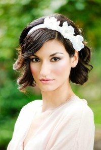 Short Wavy Curly Wedding Hairstyles - Wedding Hair with ...