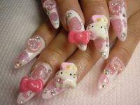 15 Super Funny Kitty Nail Designs - Pretty Designs