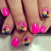 Summer Nail Trend: Pretty Nail Arts for Beach Landscape ...