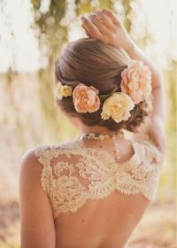 Romantic Braided Wedding Hairstyles with Beautiful Flowers ...
