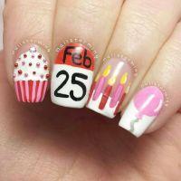 Birthday Themed Nail Arts