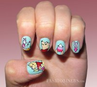 Lovely Cartoon Inspired Nail Art Design - Pretty Designs