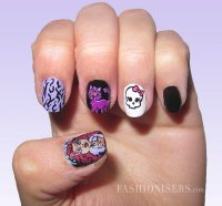 Interesting Cartoon Inspired Nail Art Design - Pretty Designs