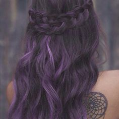 Braided Headband for Purple Hairstyle