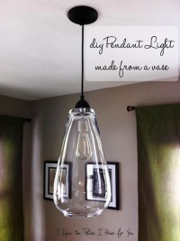 12 Ideas for You to DIY Pendant Lights - Pretty Designs