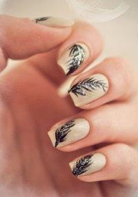 15 Feminine Feather Nail Designs for 2016 - Pretty Designs