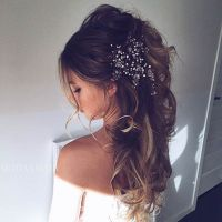 23 Glamorous Bridal Hairstyles with Flowers - Pretty Designs