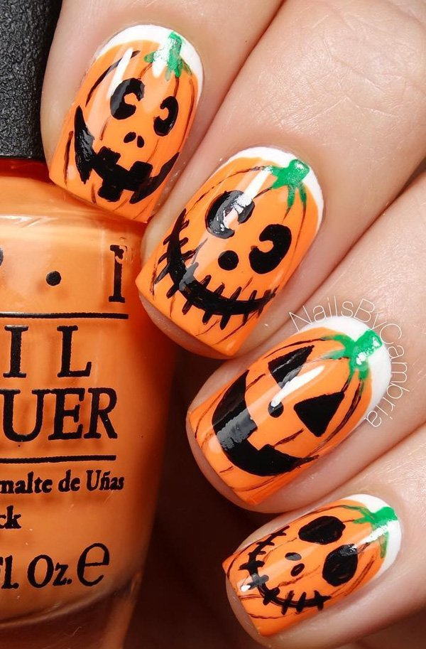 20 Cool Easy Halloween Nail Art Ideas - Halloween Nail Designs 2017