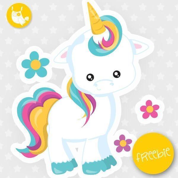Unicorn Freebie, free clipart, freebie, commercial use - free invitation clipart