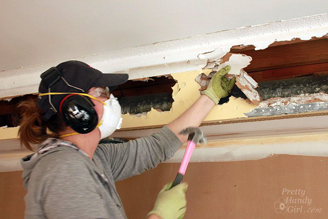 How To Remove A Soffit - Kitchen Renovation Update - Pretty Handy Girl