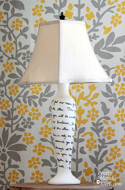 song lyric lamp
