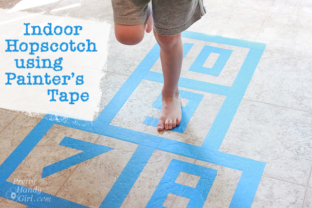 indoor hopscotch from PrettyHandyGirl.com