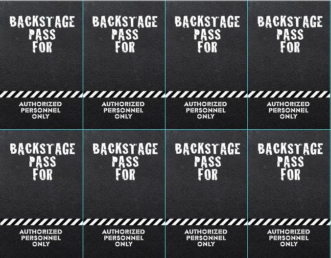 free printable vip pass template - microsoft backstage pass template
