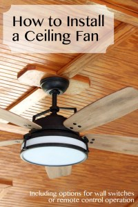 How to Install a Ceiling Fan - Pretty Handy Girl