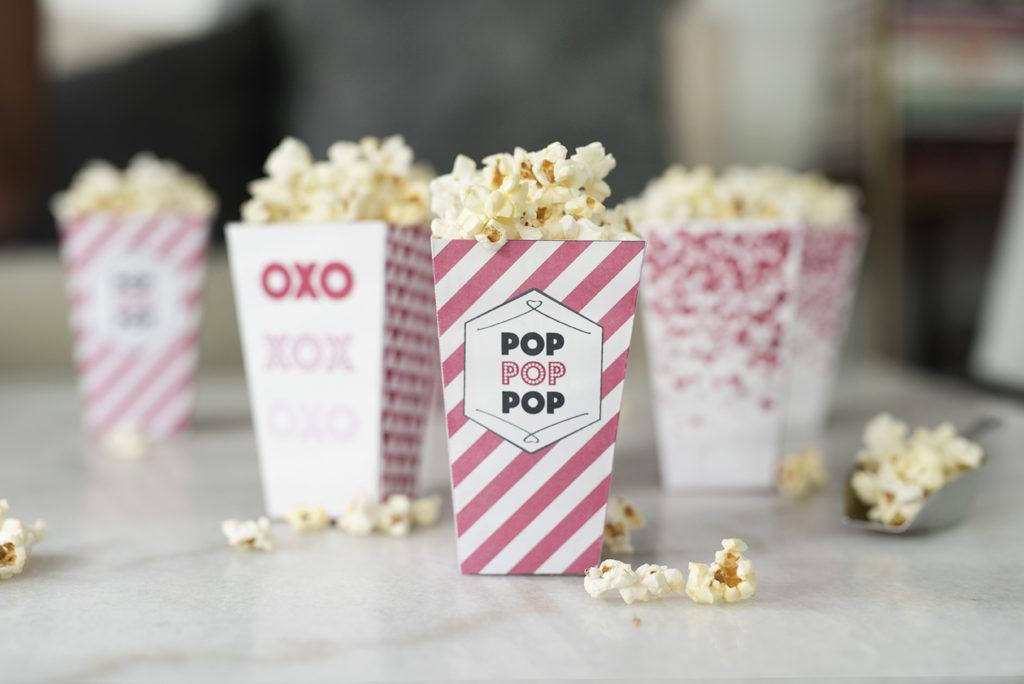 Pretty in Pistachio Pretty Pink Popcorn Boxes (Free Printable
