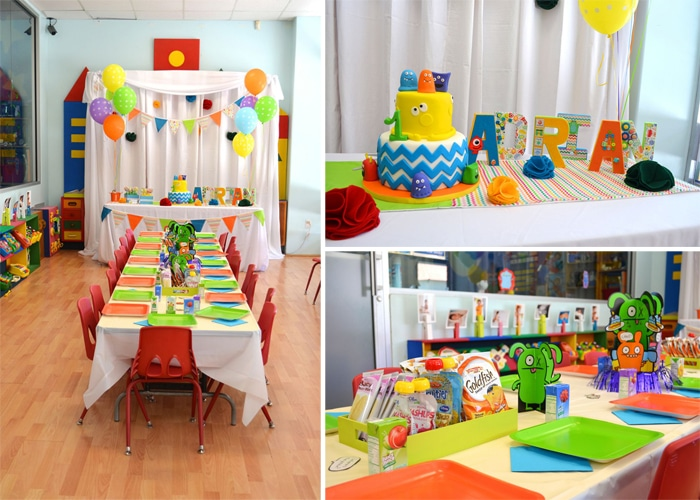 Colorful Monster Themed 1st Birthday Party Party party, Monsters - monster resume services