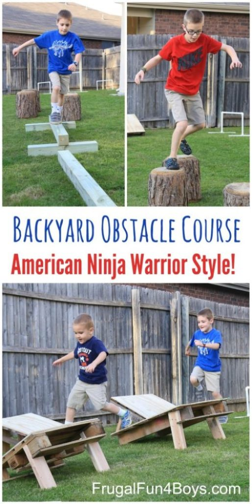 Backyard Obstacle Course Ninja Warrior Style, 25 Best Backyard Birthday Bash Games