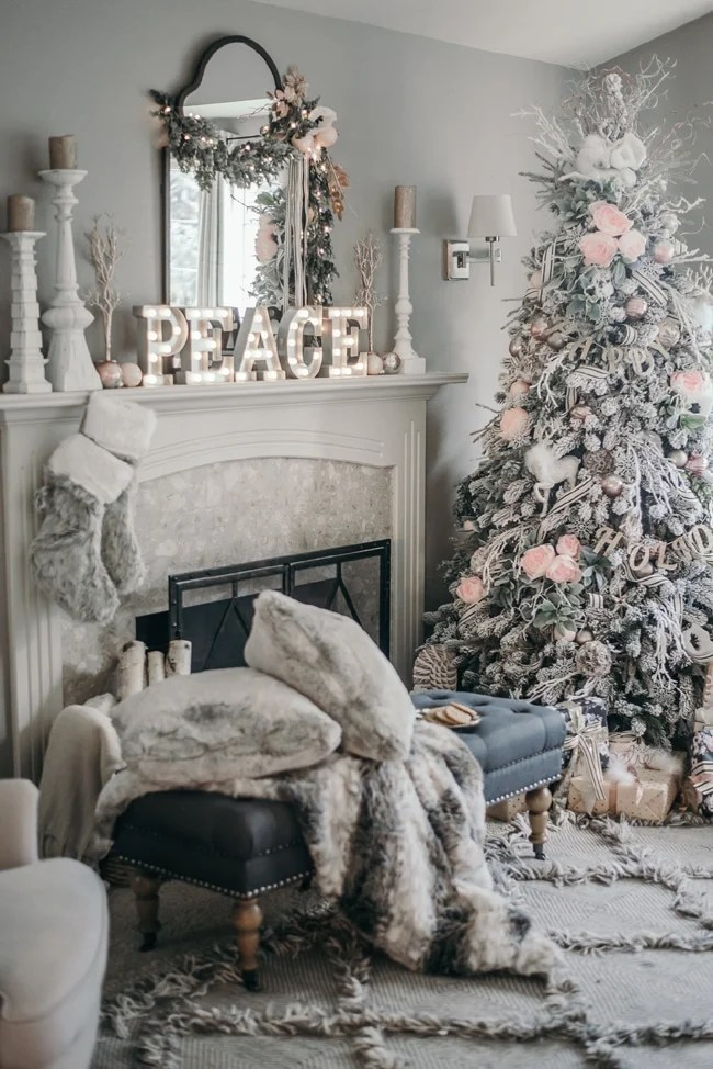 White Christmas Fireplace Decorations christmas mantel more - christmas fireplace decor