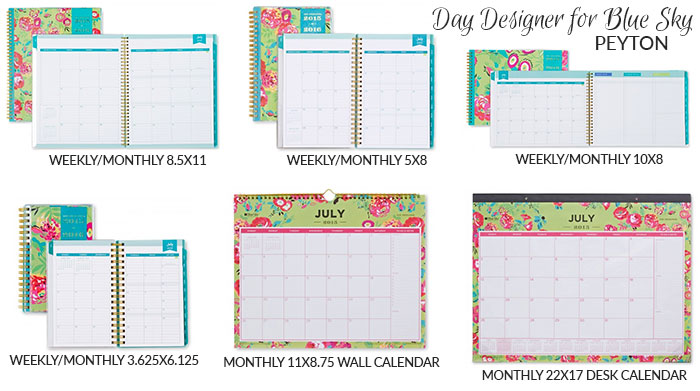 Planner Review Day Designer for Blue Sky 2015 - 2016 - Pretty