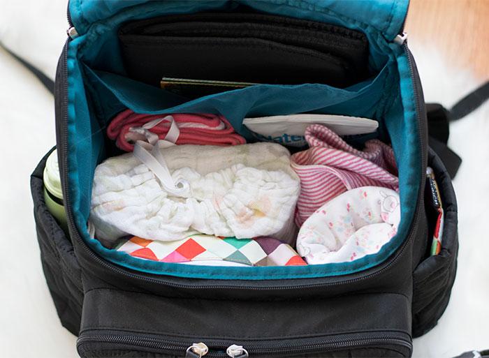 diaper-bag-vertical-organization-2016 - Pretty Neat Living