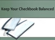 Checkbook Balanced