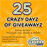 CouponCabin's 25 Crazy Dayz of Giveawayz: Win Over $175 in Prizes #CouponCabinHop