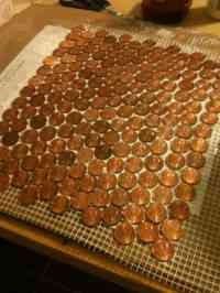 How to make a floor out of REAL pennies with a penny floor ...