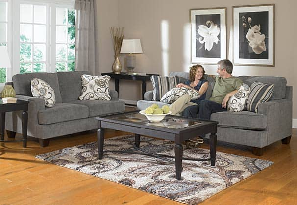 How to mix-and-match your furniture Pretty Purple Door - gray living room furniture sets
